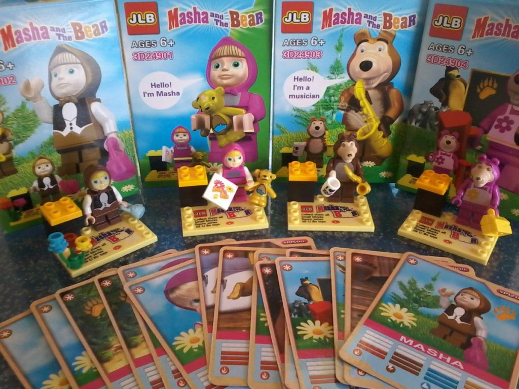 Lego Compatible - JLB - Masha and the Bear Very nice minifigures even if quality of plastic and painting colours are not the best. June 2015