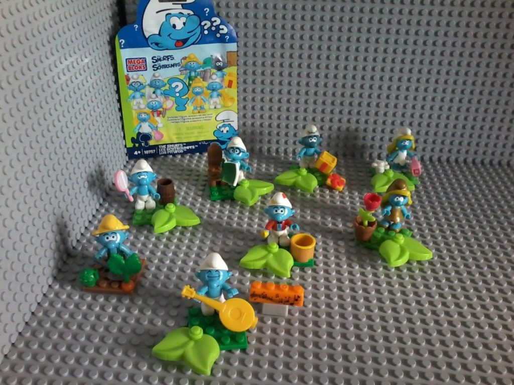 Lego compatible - Mega Bloks - 10757 Puffi Smurfs Shlumpfs - Collectibles series May 2015