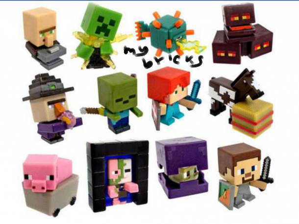 Lego size – Mattel – Minecraft collectible series 6 End Stone Backsmith villager – A code Exploding Creeper – G code Laser Guardian – L code Magma cubes – I code Drinking witch – H code Spectral damage Zombie – E code Alex With shield – J code Baby horse – B code Pig in minecraft – D code Portal Pigman – K code Shulker – F code Steve? With shield – C code Lego size – Mattel – Minecraft collectible series 6 End Stone Backsmith villager – A code Exploding Creeper – G code Laser Guardian – L code Magma cubes – I code Drinking witch – H code Spectral damage Zombie – E code Alex With shield – J code Baby horse – B code Pig in minecraft – D code Portal Pigman – K code Shulker – F code Steve? With shield – C code
