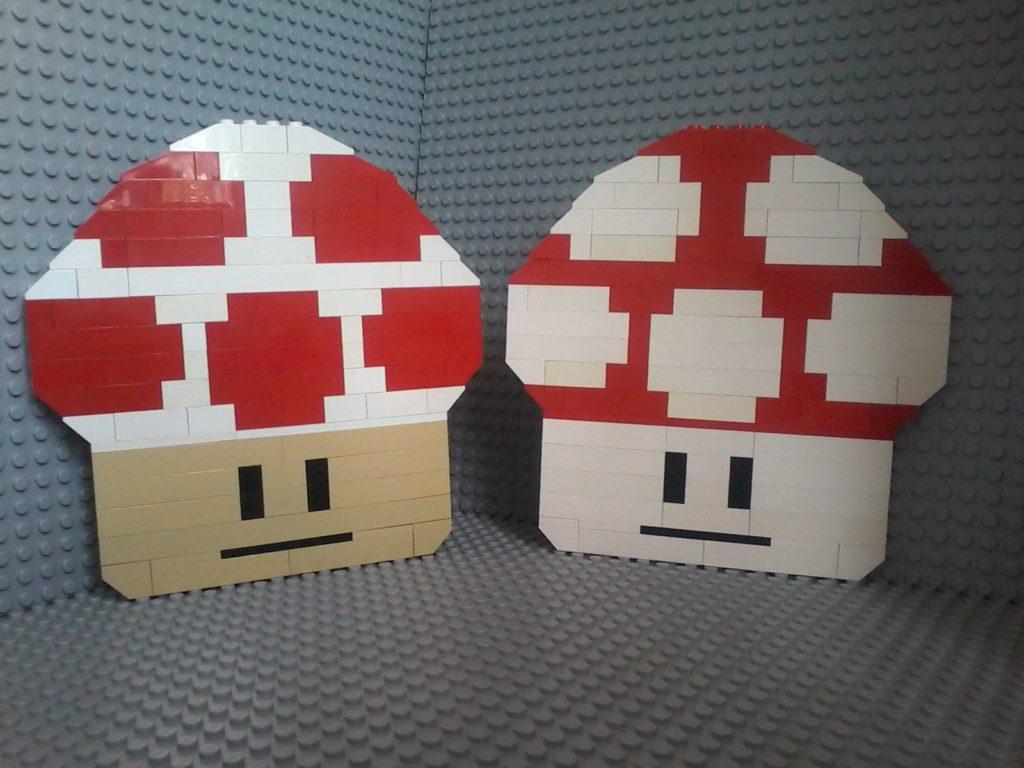 Funghetti Lego - Mushrooms - Due simpatici funghetti che ricordano un videogame - Nice Mushrooms like a videogame.