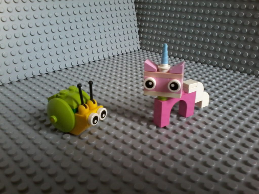 Lego Movie Snail - Unikitty and Snail.