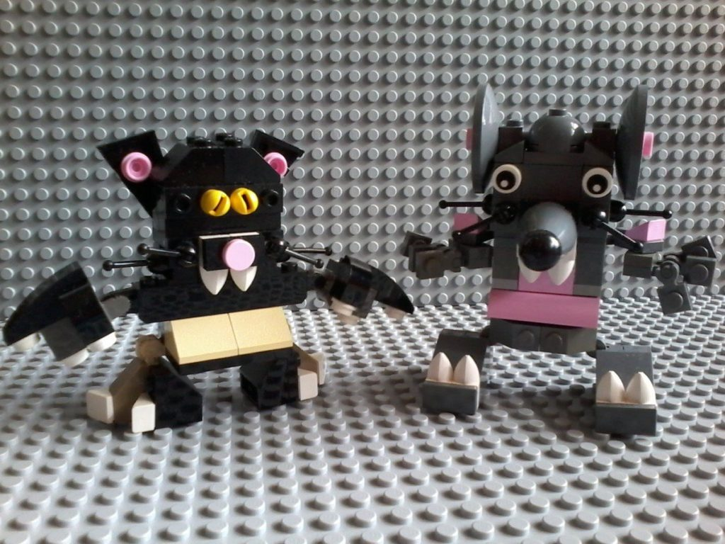 Lego Gatto Topo Cat Mouse inspired by Lego Mixels