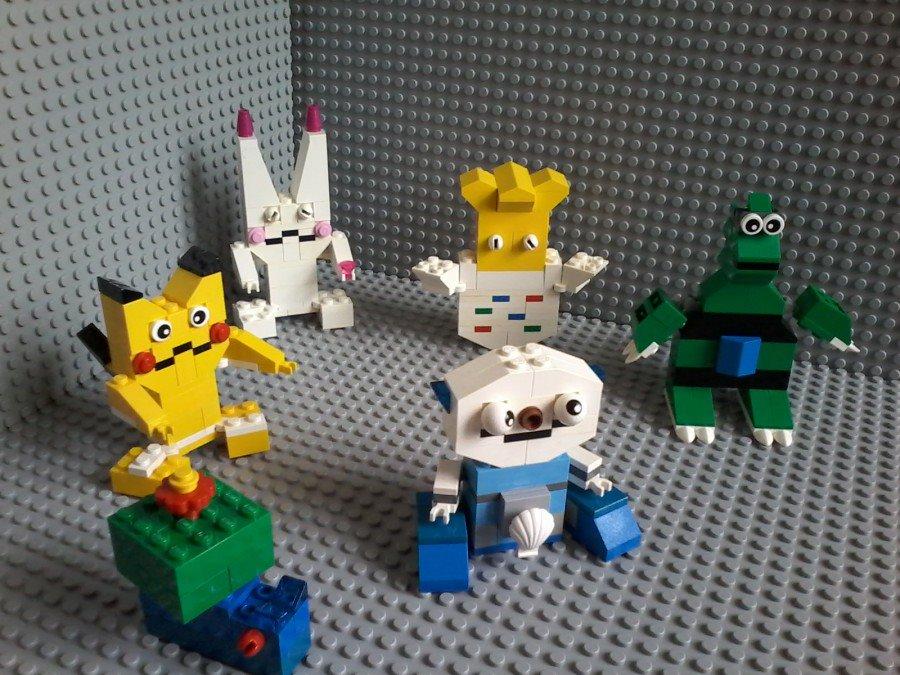Lego Pokemon Pikachu Plusle Togepi Trynitar Bulbasaur Oshawott