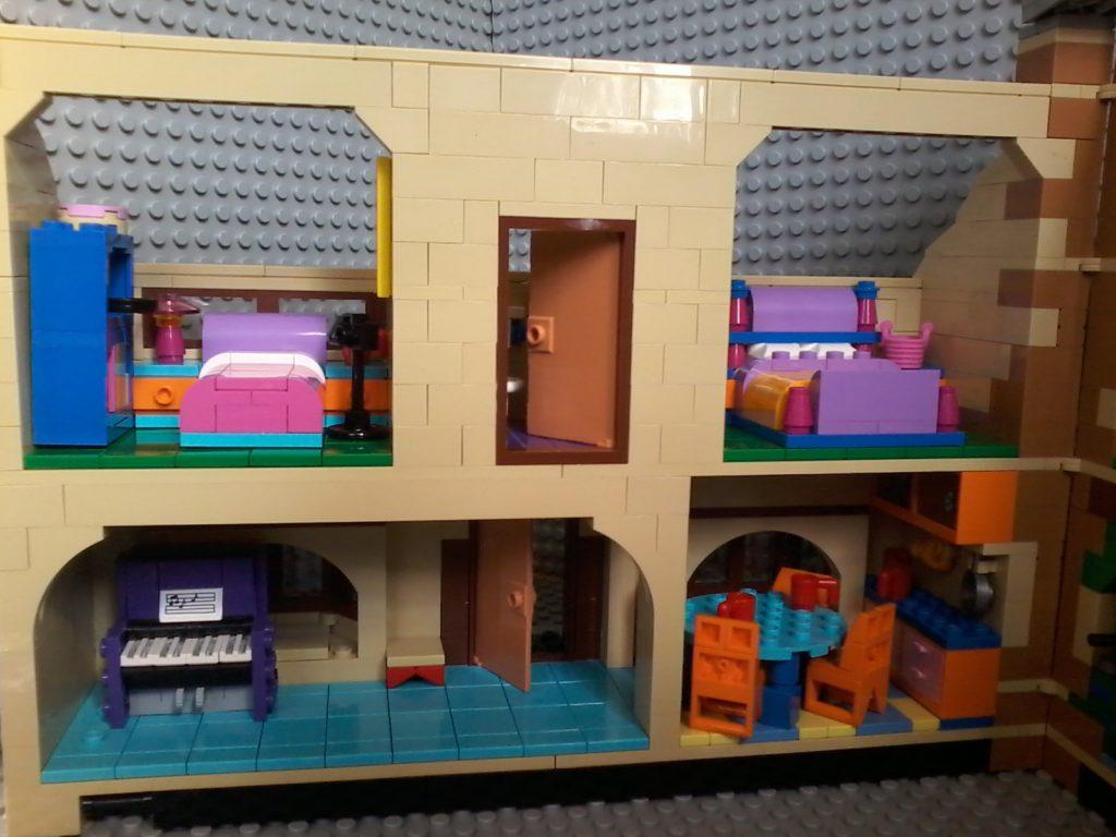 Lego Simpson 71006 Casa House - Lato sinistro - left side
