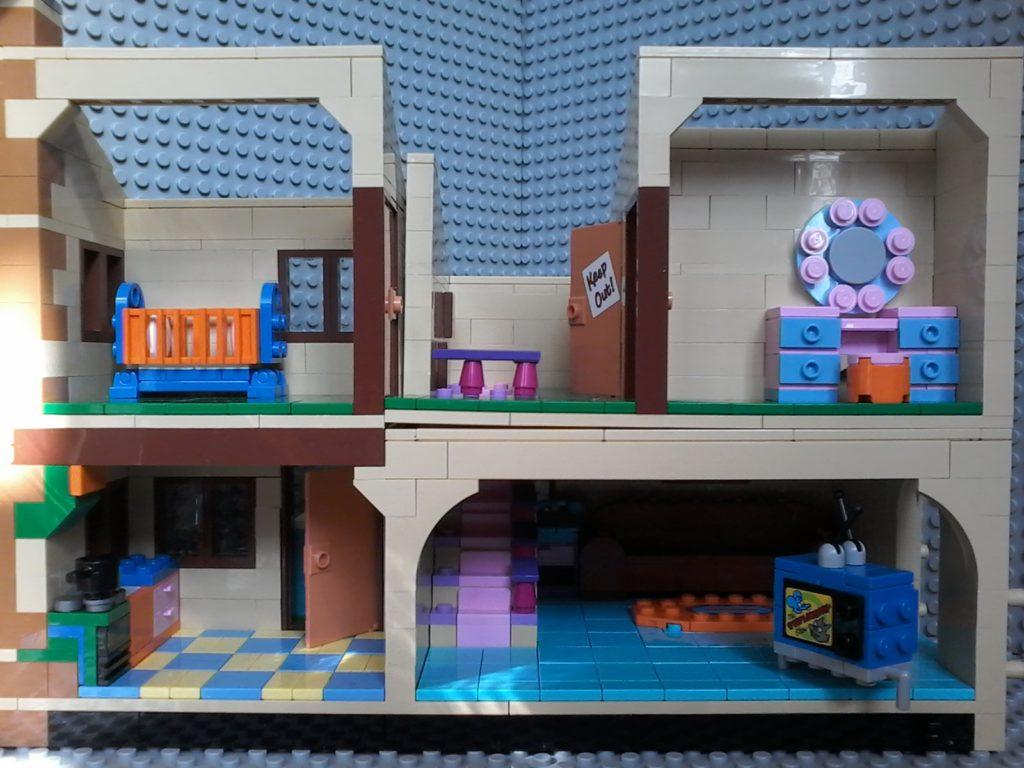Lego Simpson 71006 Casa House - Lato destro - right side
