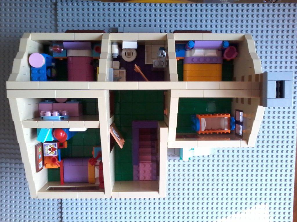 Lego Simpson 71006 Casa House - Top