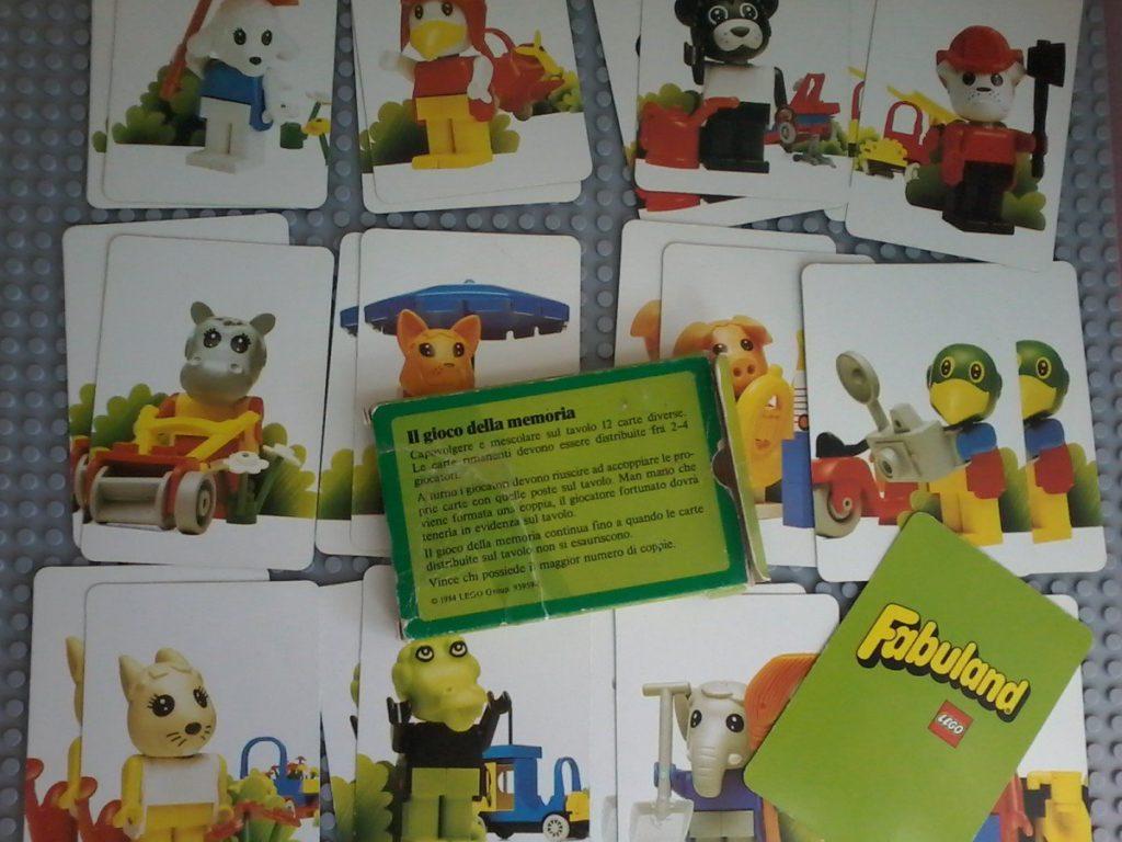 Lego Fabuland Memory Cards Lego 1984