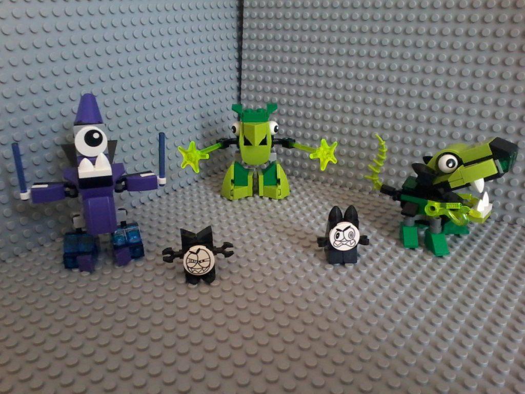 Lego Mixels Series 3 MAGNIFO (violet) TORTS GLURT (green)