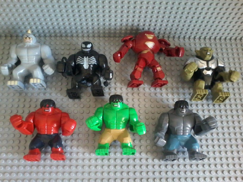 Lego compatible - Decool - Rhino Venom Iron Men Green Goblin Hulk  Rhino - Venom - Iron Men - Green Goblin Hulk Good quality product, even if head is not mobile; arms and hands are playable.