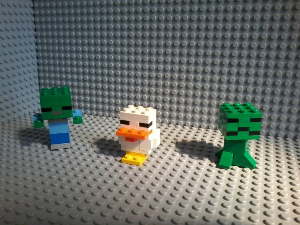 Lego Minecraft MOC Zombie Chichen Creeper