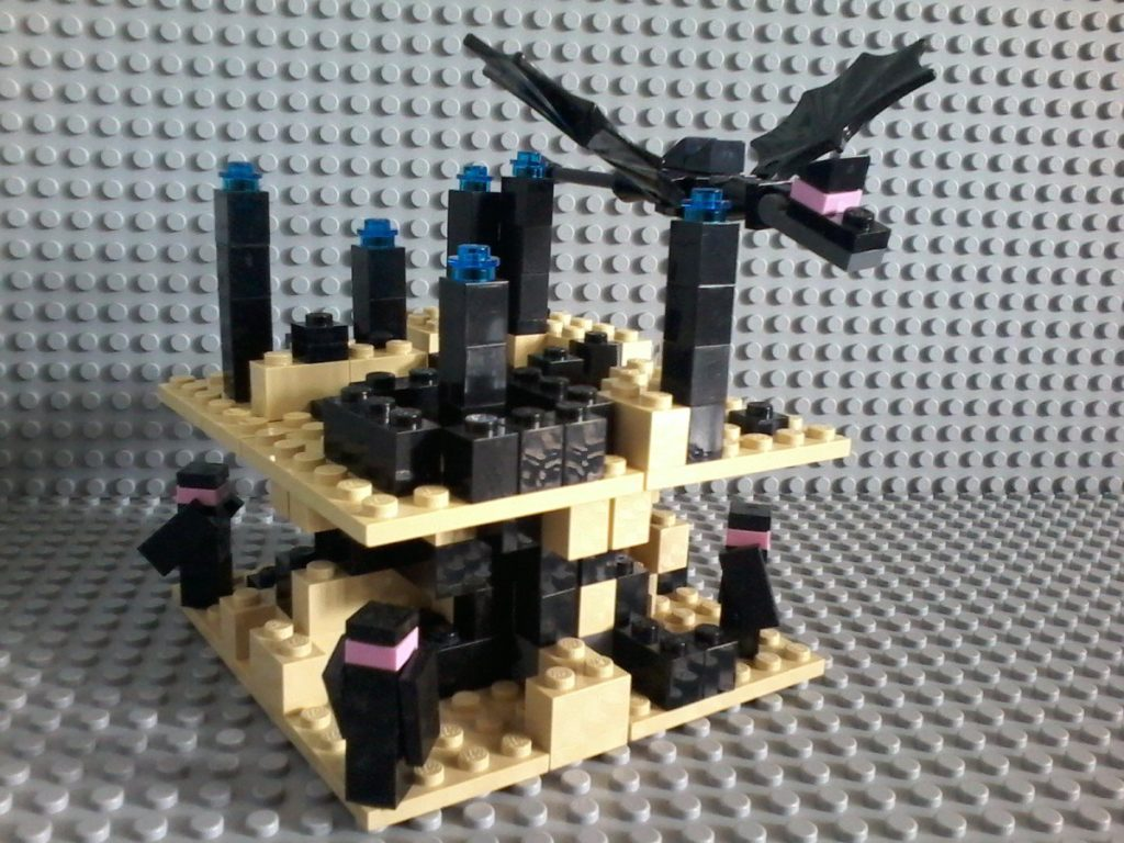 Lego Minecraft the End Lego MOC inspired by Lego 21107