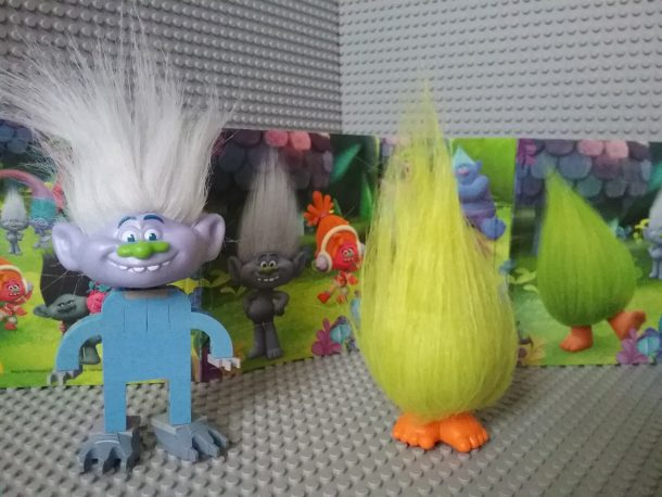 Lego Trolls - Guy Diamond with Fizzbert (Head coming from Happy Meal)