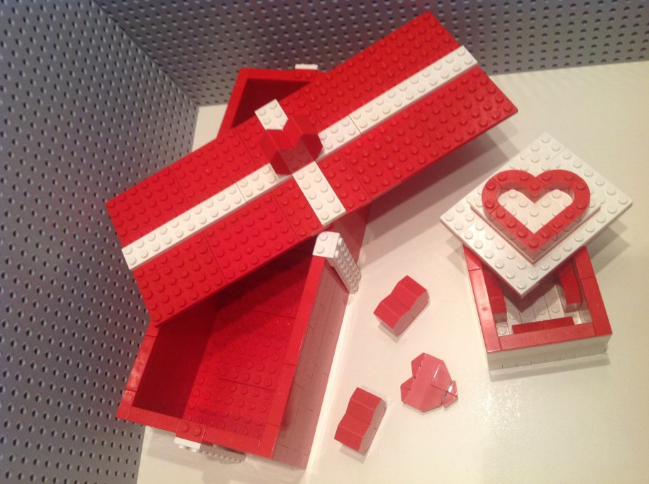 S. Valentino Lego - Valentine's day - Scatoline Lego per S.Valentino