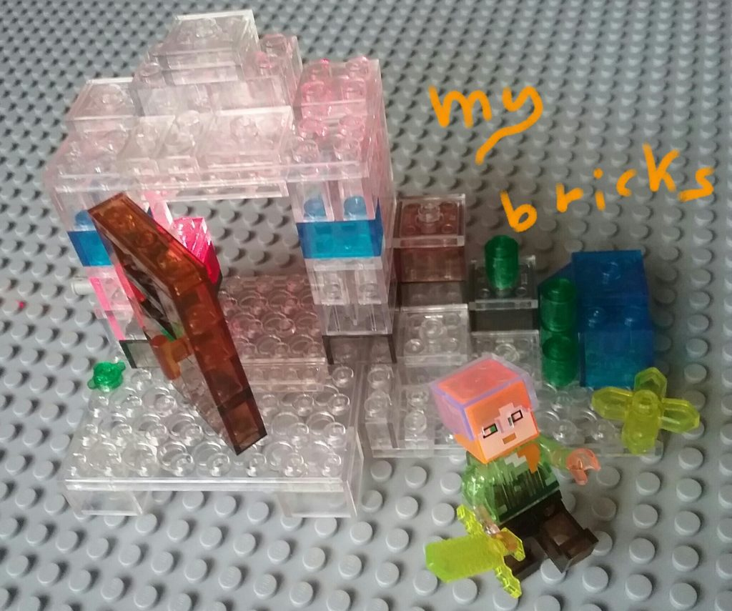 Lego compatible - My World - Minecraft MiniFigures Crystals version 79272 Mesa - Axel with yellow crystal sword