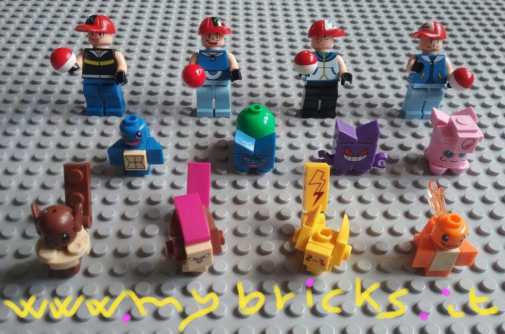 Lego compatible - Dargo - Pokemon Pikachu Charmander Gengar Eeve Pidgeot Bulbasaur Squirtle jigglypuff