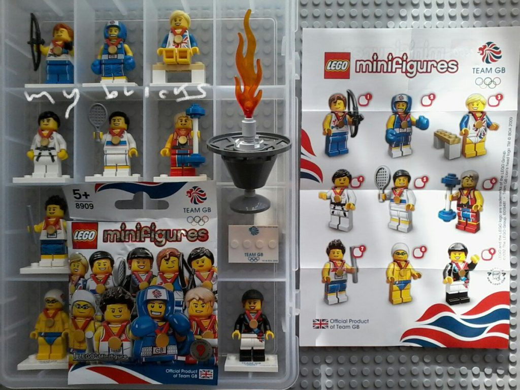 Lego 8909 Minifigures Serie Team GB London Olympic Collectibles Series Lego July 2012