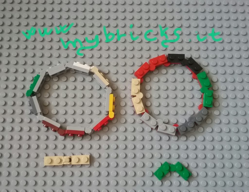 Lego Jewelry - Bracelet jewel - plates modified