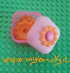 Lego Clikits Square container Box Flower – 1 Hole