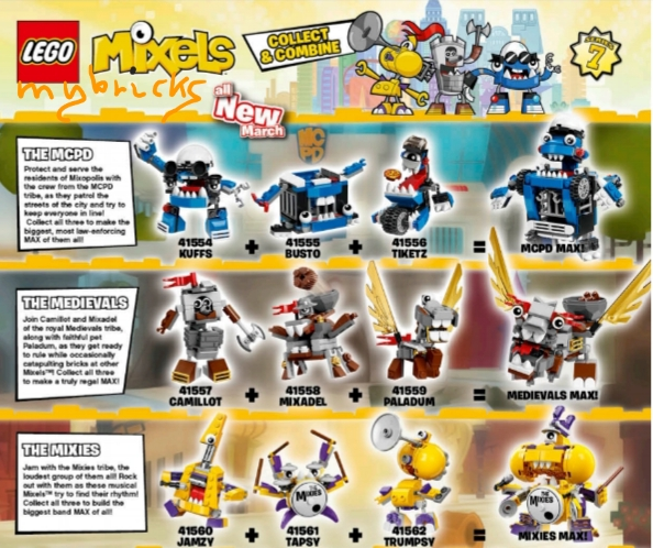 Lego Mixels Series 7 - 41554-41562 March 2016