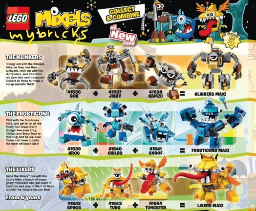 Lego Mixels Series 5 - 41536-41544 June 2015