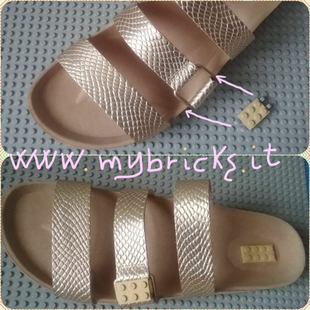 Lego Mybricks Shoes Collection - Gold sandals