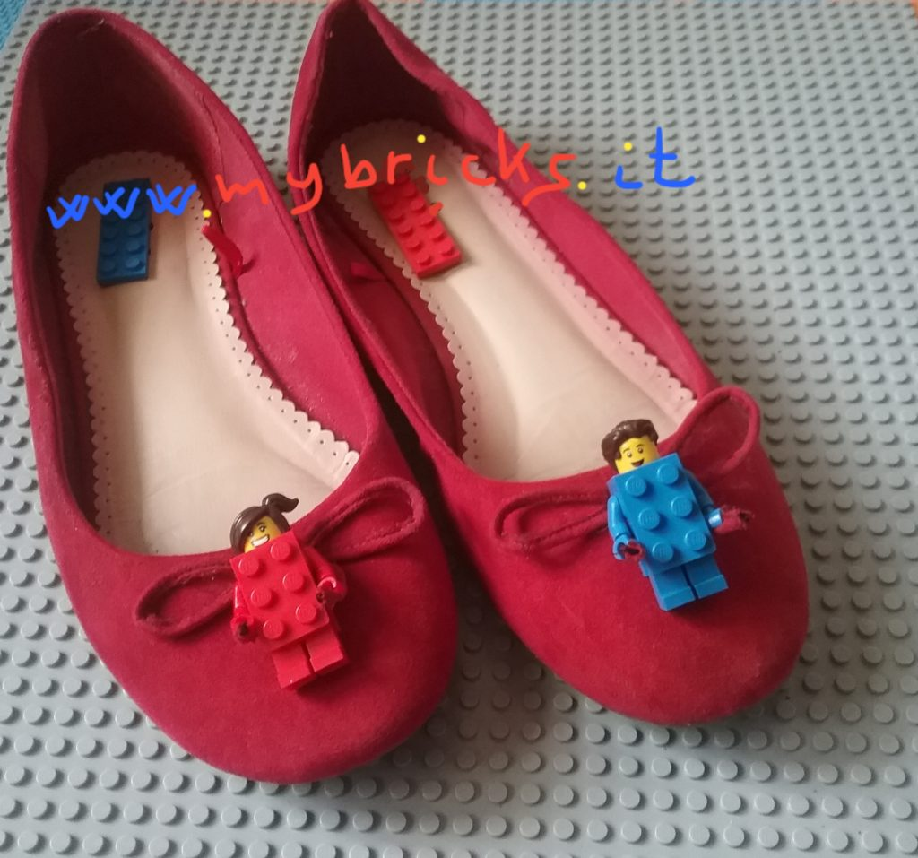 Lego Mybricks Shoes Collection - Red Ballerinas