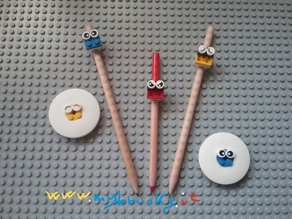 Lego Pencils&Rubbers Emoticons