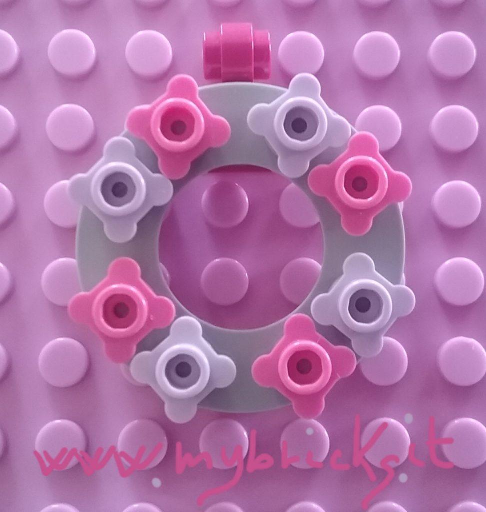 Lego Flowers charm pendant