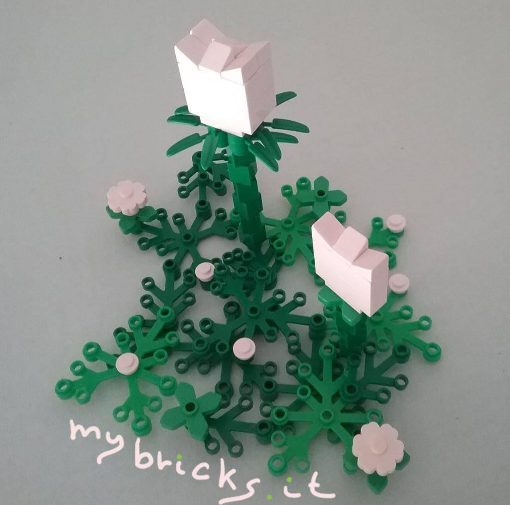 Lego White Tulips