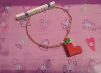 Lego Friends Epiphany sock Necklace Day #6