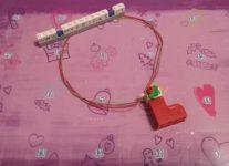 Lego Friends Epiphany sock Necklace Day #6