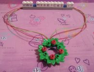 Lego Friends Christmas Wreath Necklace Day #13