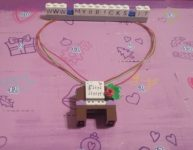 Lego Friends Christmas Piano Necklace Day #14