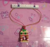 Lego Friends Marzipan House Necklace Day #18