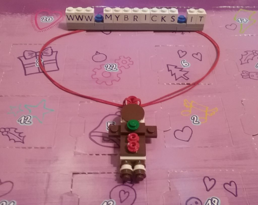 Lego Friends Gingerbread Necklace Day #19