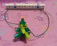 Lego Friends Christmas tree Necklace Day #23