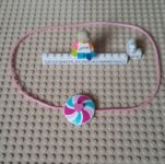 Lego pink rainbow necklace