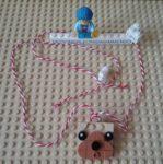 Lego DOTS bear necklace