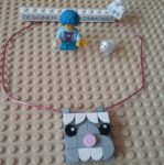 Lego DOTS rabbit necklace