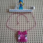 Mybricks pig mum necklace