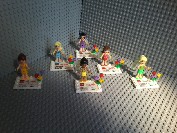 Lego compatible – Jlb – Thinker bell Disney Fairies Minifigures collectibles Silvermist Periwinkle Rosetta Fawn Iridessa Thinker Bell