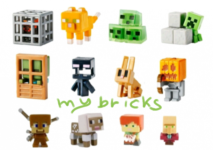 Lego size - Mattel - Minecraft collectible series 4 Obsidian Spawning spider - F code Tabby Cat - B code Slime Cubes - A code Sneaking Creeper - D code Zombie at door - E code Screaming Enderman - C code Rabbit - G code Skeleton With Pumpkin Helmet - H code Steve? With Arrow Damage - I code Sheared Sheep - L code Alex With Cake - K code Priest Villager - J code