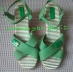 Lego Mybricks Shoes Collection - Green Espadrillas