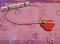 Lego Friends Heart necklace Day #1