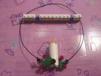 Lego Friends Christmas Candle Necklace Day #10