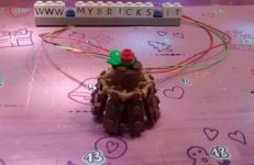 Lego Friends Christmas Cake Necklace Day #16