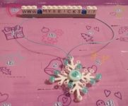 Lego Friends Snowflake Necklace Day #20