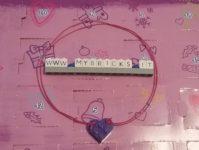 Lego Friends Purple Heart Necklace Day #22