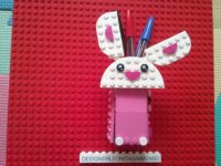 Lego Rabbit pencil case with paws
