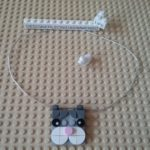 Lego DOTS cat necklace